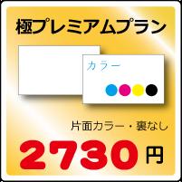 極プレミアム名刺プラン片面カラー