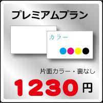 プレミアム名刺プラン片面カラー