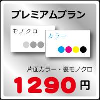 プレミアム名刺プラン片面カラー・裏モノクロ