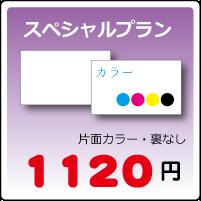 スペシャル名刺プラン片面カラー