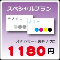 スペシャル名刺プラン片面カラー・裏モノクロ